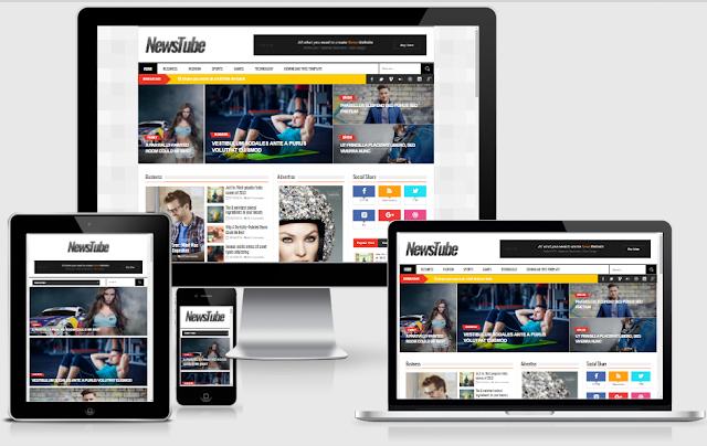NewsTube Magazine Blogger Template