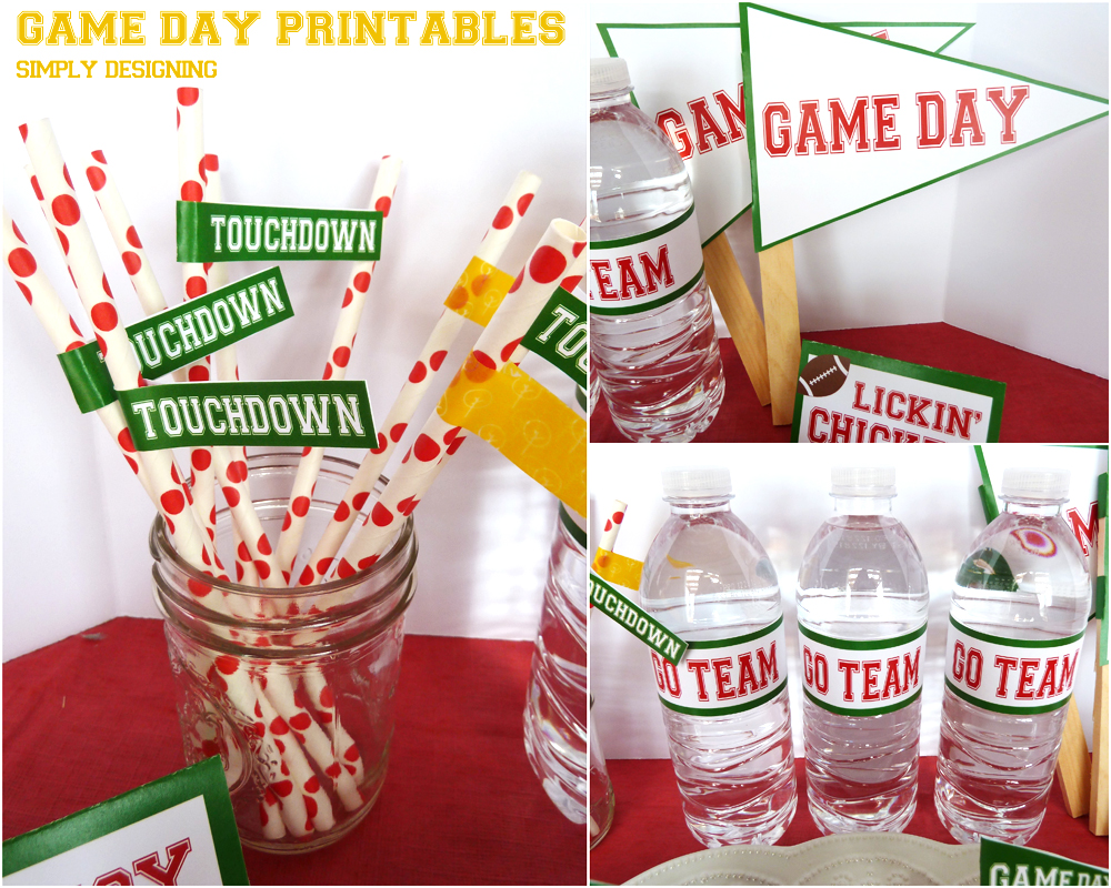 #ad Game Day FREE Printables | #SuperMoments, #cbias #printable #gameday