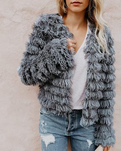 Women's Vintage Faux Fur Jackets Coats