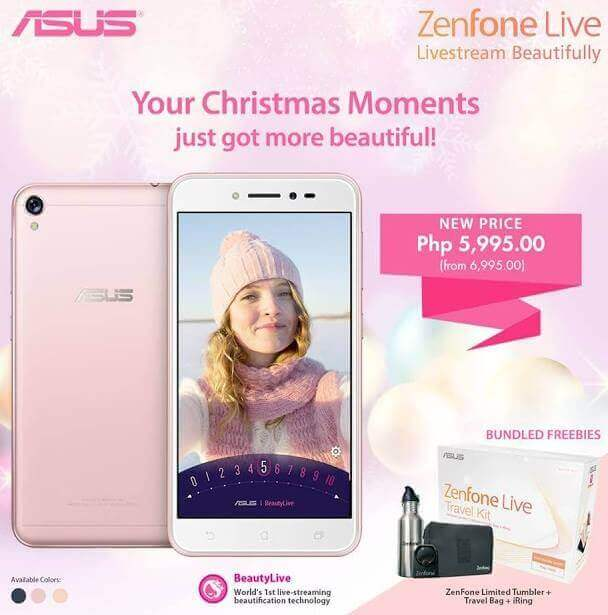 ASUS ZenFone Live Now Only Php5,995 under Zenny Merry Christmas Promo