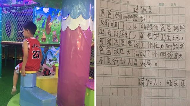 Hanya Ingin Ajak Ayahnya Liburan, Bocah 8 Tahun Ini Sampai Kirim Surat Buat Bos Ayahnya, Bikin Nangis!