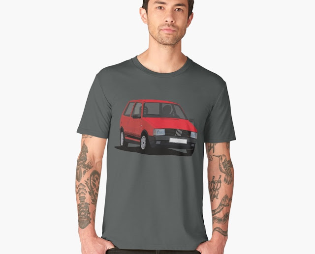 80's Fiat Uno Turbo i.e. (Type 143) auto T-shirt