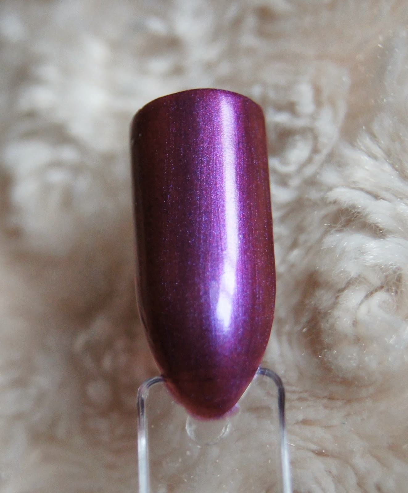 rimmel metal rush nail polish purple reign swatch