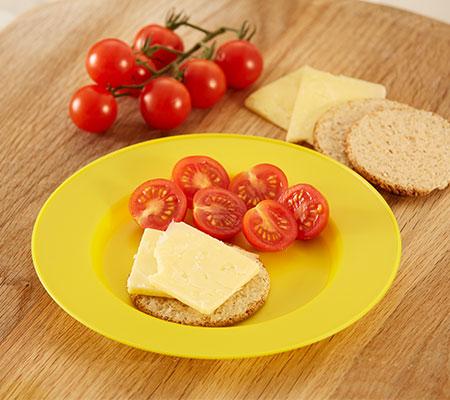 Receta de tortas de avena con queso y mini tomates