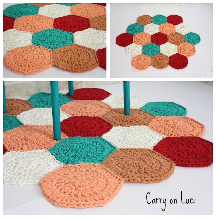 10 alfombras hechas con trapillo manualidades - Como hacer un puff de trapillo ...