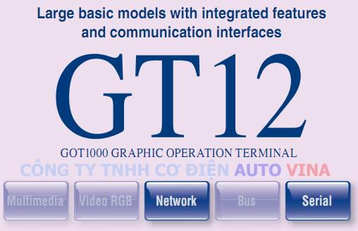 Đại lý bán màn hình cảm ứng HMI Mitsubishi GT12 - GOT1000 Series