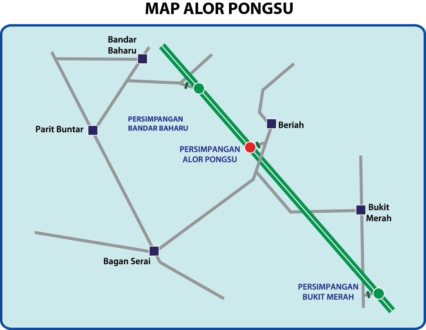 Plaza Tol Alor Pongsu, Laluan Keluar PLUS ke Bagan Serai dan Selama