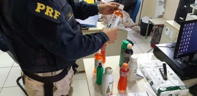 Passageira é flagrada transportando droga em ônibus em Feira de Santana