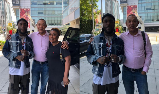 Ben Bruce Spotted With Burna Boy And His Mother At The BET Awards 2019 In US