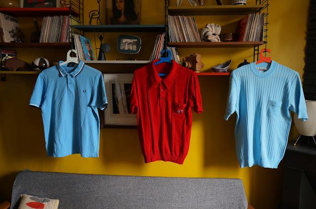 un polo Fred Perry , un polo en tricot et un pull mc Italien  knit polo , 60s Italian mod knit top