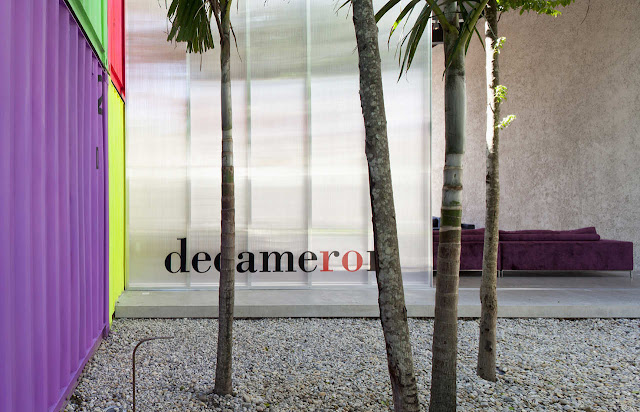 Decameron - Low Budget Colorful Shipping Container Store, Brazil 21