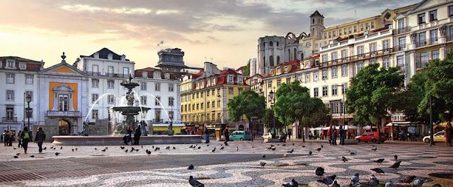 Bairro da Baixa em Lisboa