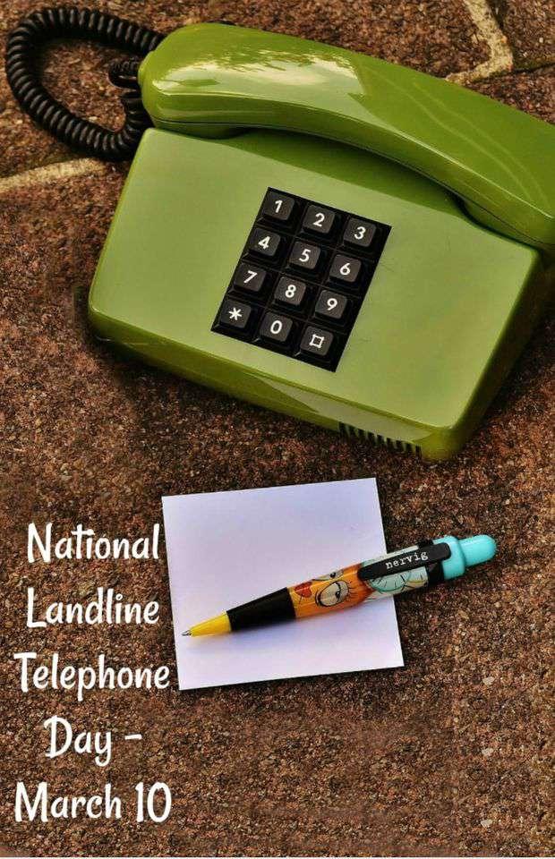 National Landline Telephone Day Wishes Unique Image