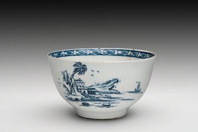 ba4ff9a0ec Soft-paste porcelain with underglaze blue hand-painted (interior) and  transfer-printed (exterior) decoration