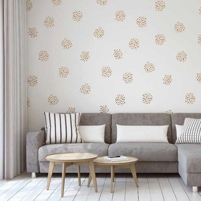 Model Motif Wallpaper Dinding Ruang Tamu Yang Elegan Terbaru