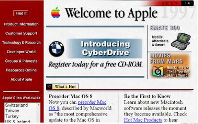Website Apple Jaman Dulu