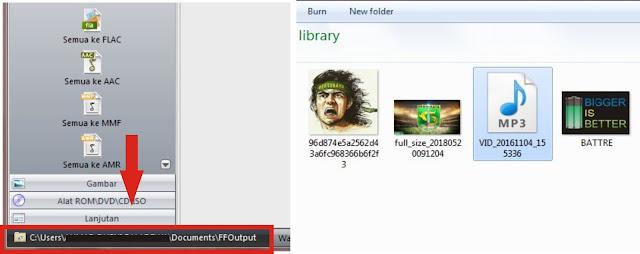 Jika proses konvert sudah selesai Sobat bisa langsung cari dan putar filenya. Atau Sobat bisa klik tulisan di pojok kiri bawah untuk langsung menuju file yang telah dikonvert.