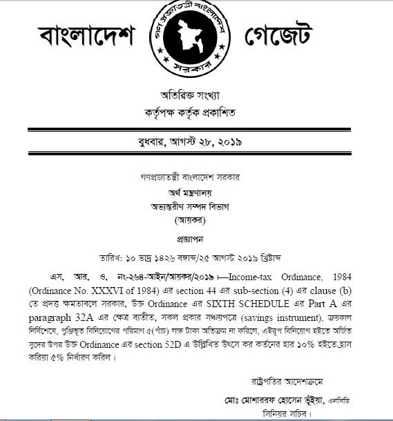 Savings Instruments in Bangladesh