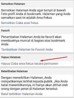 Cara Menghapus Halaman FB