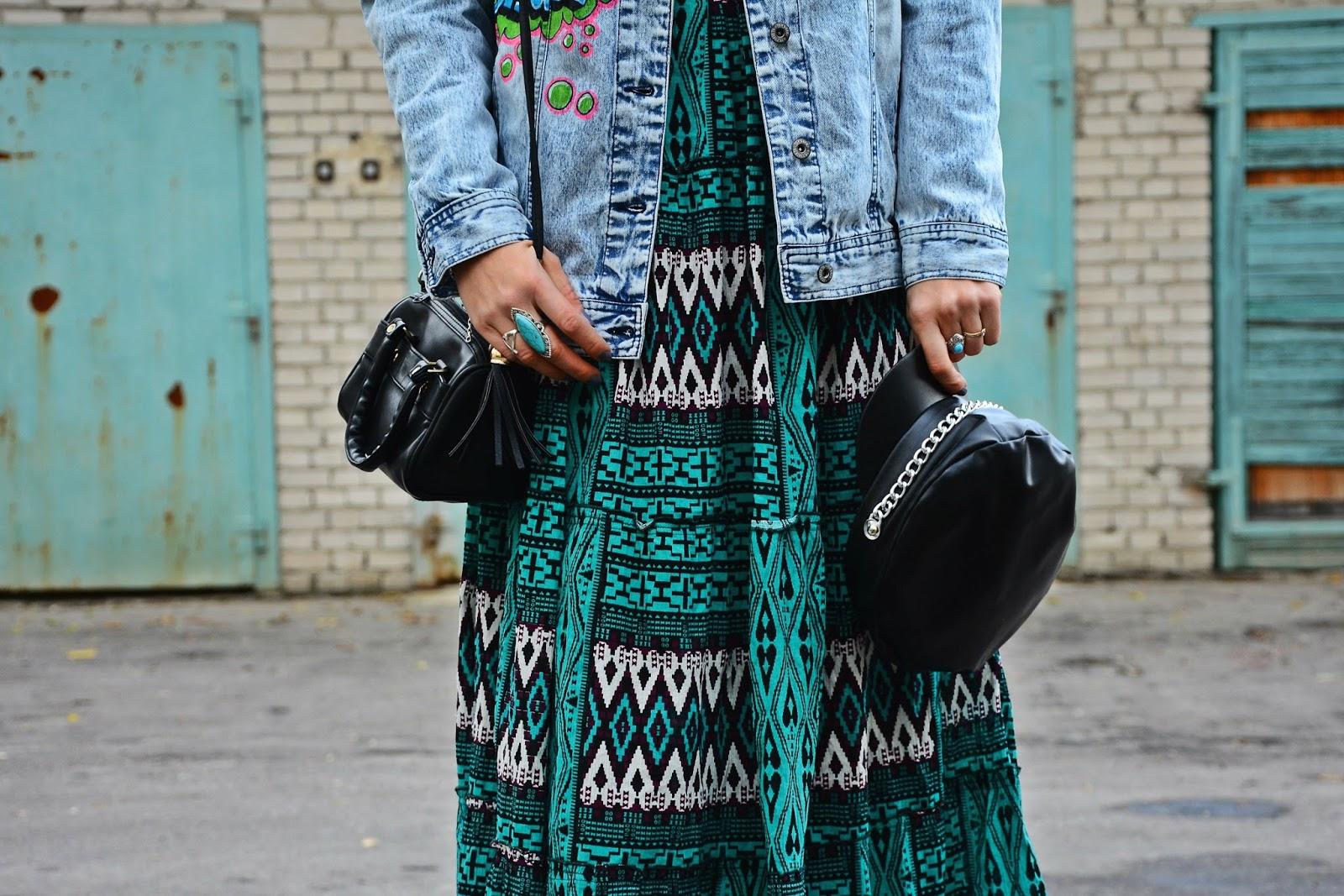 Aztec turquoise skirt