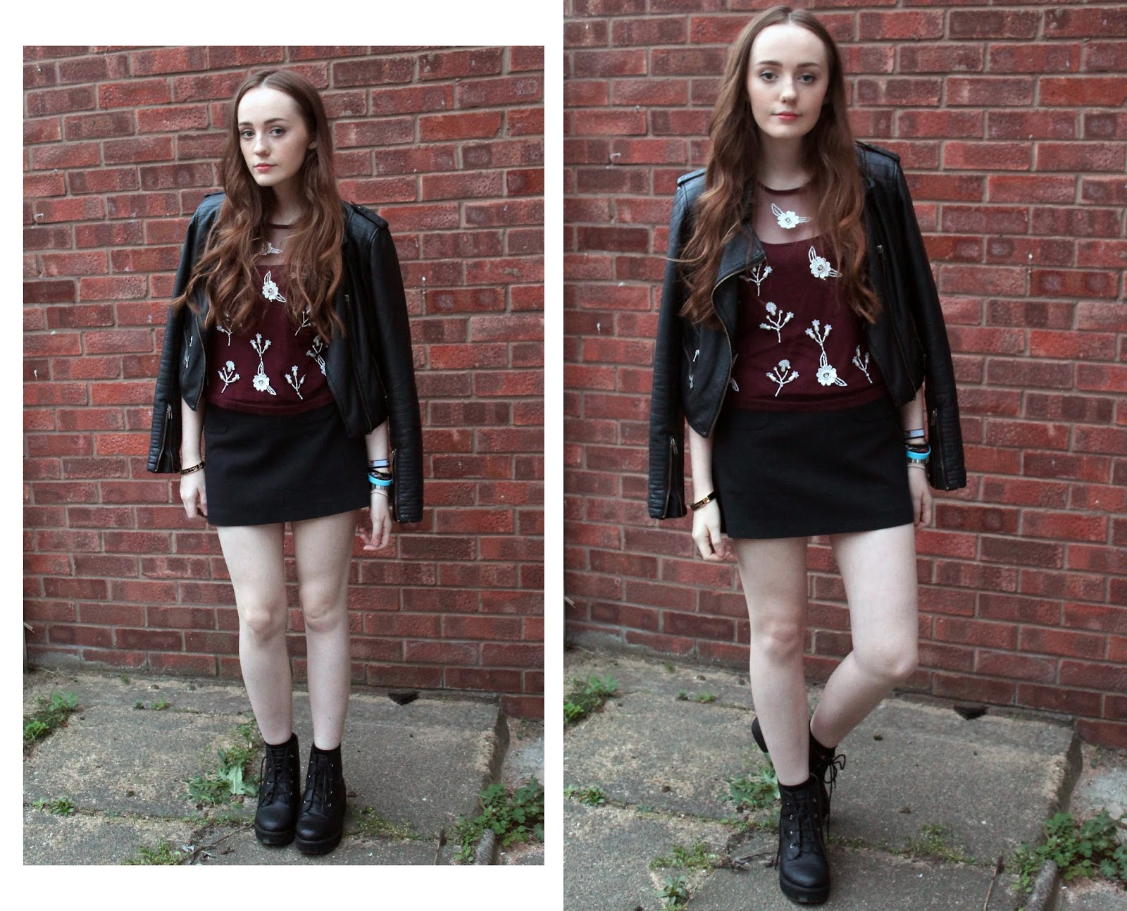 OOTD featuring glamorous burgundy embellished top from get the label blogger review