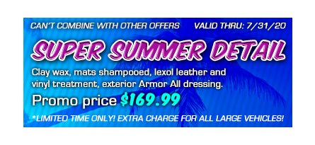 Promotional summer detailing at $169.99