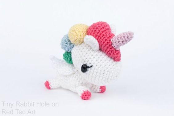 Unicornio amigurumi | Receitas amigurumi, Unicórnio de crochê ... | 376x564