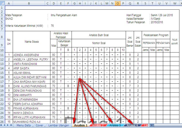 Download Analisis Nilai Ulangan Harian Kelas 4 Sd Negeri 1 Asemrudung