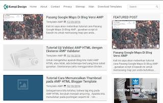 Kompi AMP Blogger Template - kanalmu