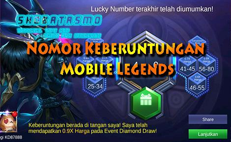 Nomor Keberuntungan Mobile Legends