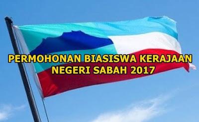 Permohonan Biasiswa Kerajaan Negeri Sabah 2017