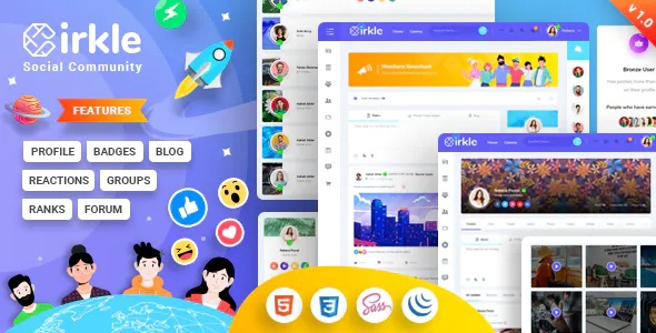 Best Social Networking HTML Template