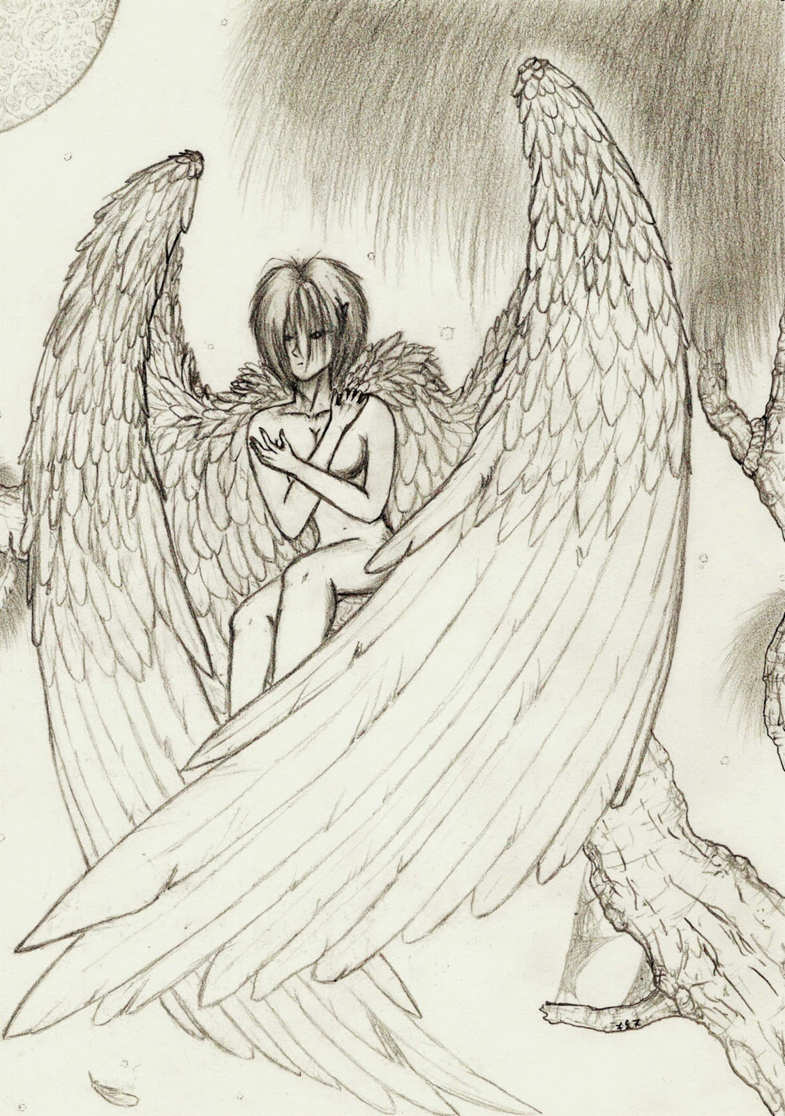dibujos de angeles