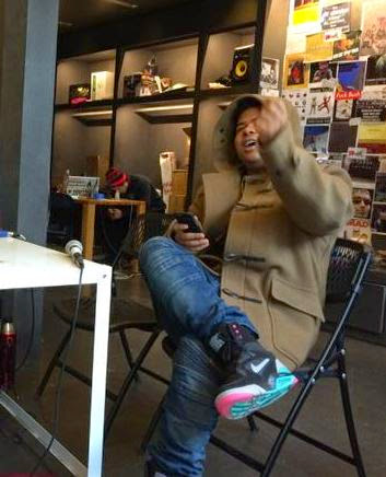 e1ebce4cd64755 Makonnen Wearing Nike Command Force Sneaker s