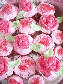Flower Cupcakes with Gum Drop Flowers