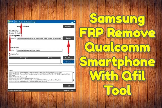 Samsung Qualcomm FRP Remove by Qfil in EDL Mode Tool