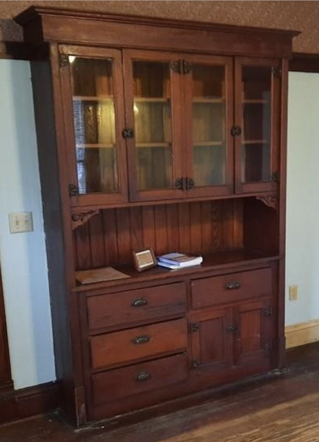 color photo of buffet/china closet from Sears