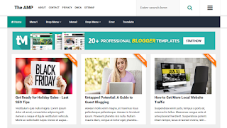 The AMP  Blogger Template 2020