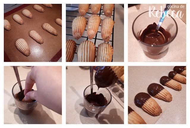 Receta de pastas de té con chocolate: horneado y bañado