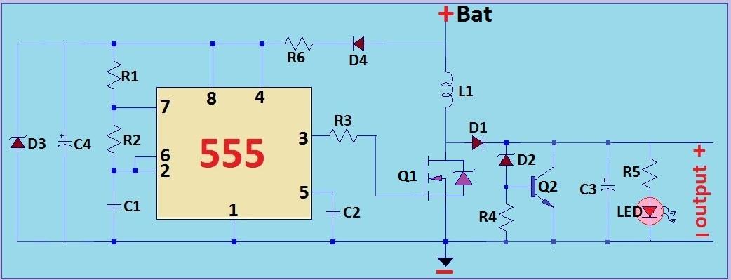 LED LIGHT WIRING DIAGRAM ON 12VDC TO 24VDC CONVERTER CIRCUIT DIAGRAM