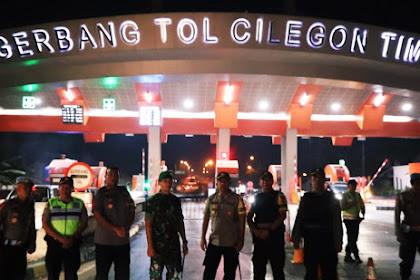 Polda Banten Lakukan Penyekatan dalam rangka cipta kondusif Aman