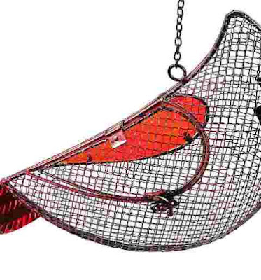 New Creative Cardinal Mesh Bird Feeder
