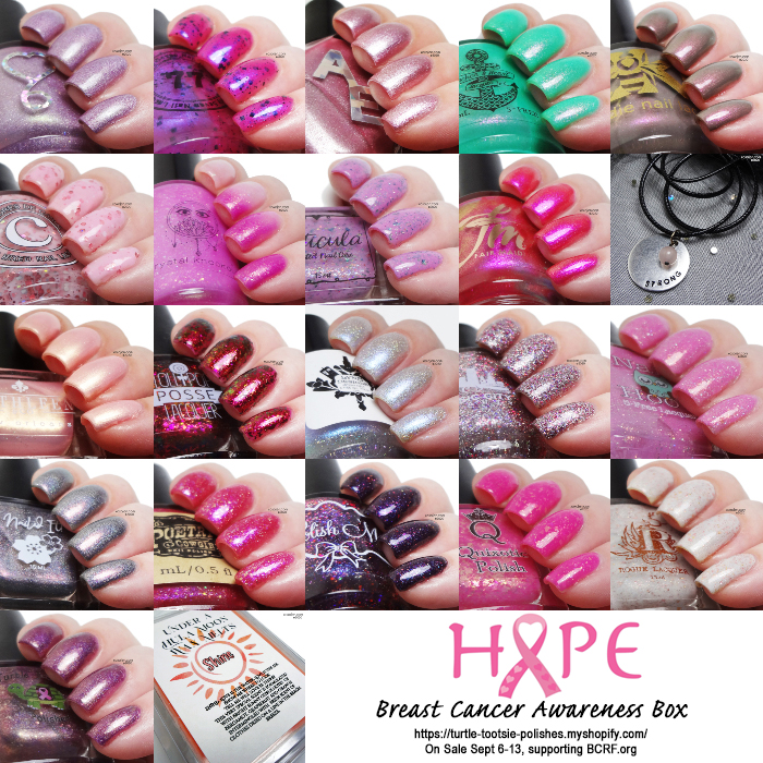 xoxoJen's swatch of Breast Cancer Awareness Box 2020 collage