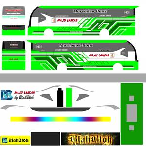 Livery Bussid Maju Lancar SR2 MDC