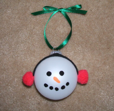 Glass Snowman Ornaments 1