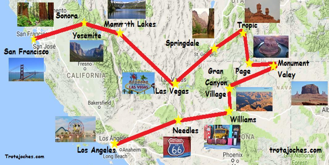 Viaje De Los Angeles A San Francisco En Auto