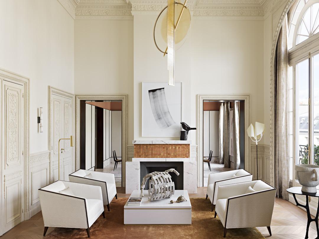 Sophisticated Parisian apartment by interior designer Rodolphe Parente