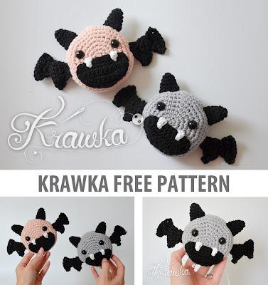 Krawka: Halloween bats decoration - free amigurumi monster crochet pattern by Krawka