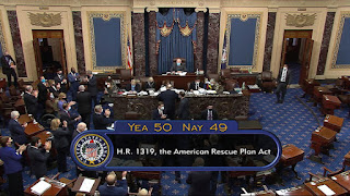 مجلس الشيوخ الأمريكى  يقر خطة بايدن  التحفيزية لمواجهة جائحة كرونا