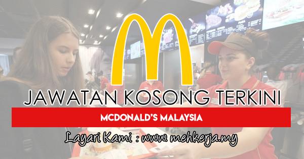 Jawatan Kosong Terkini 2018 di McDonald's